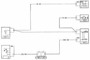 Электрическая схема системы запуска двигателя (K7M) Рено Логан