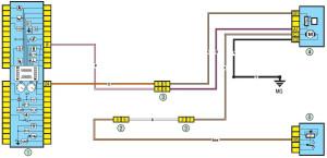 Электрическая схема топливного насоса и датчика уровня топлива Рено Логан