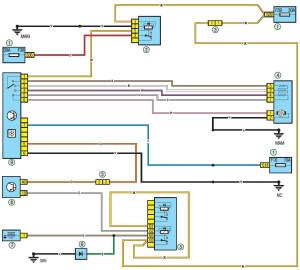 Электросхема - вентилятор отопления и кондиционера Renault Logan