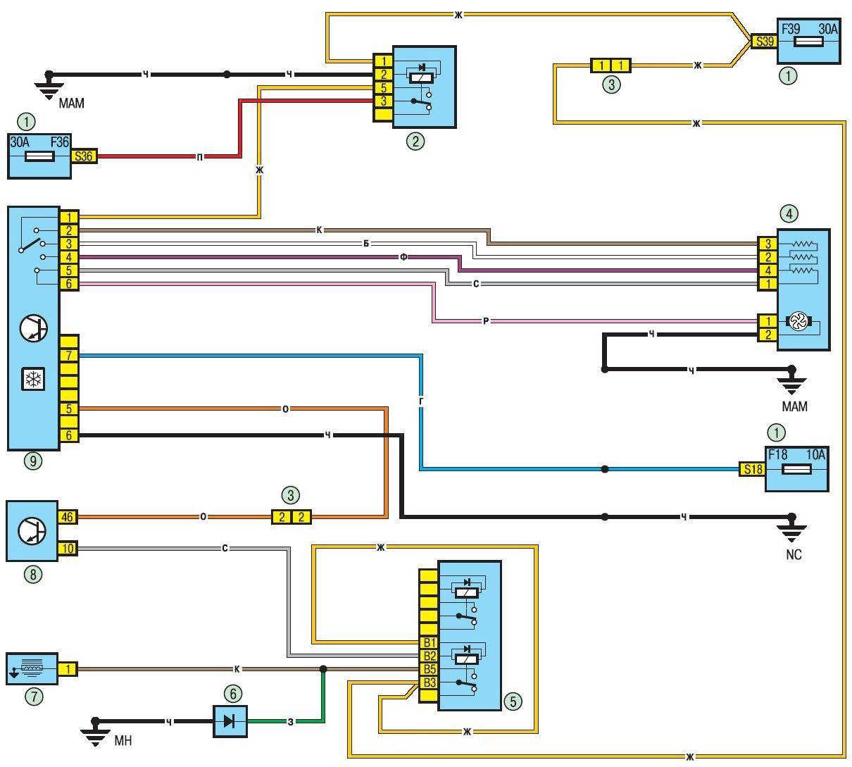 электросхема renault logan