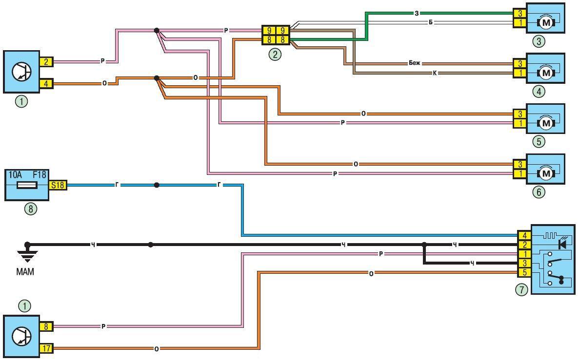Схема салона логана 2