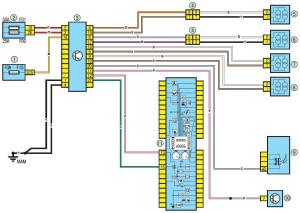 Электрическая схема управления ABS Renault Logan