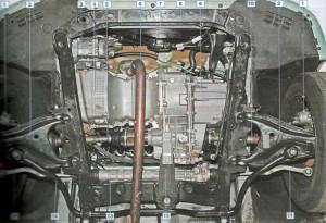 Расположение узлов и агрегатов Рено Логан