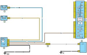 Электрическая схема обогрева заднего стекла Рено Логан